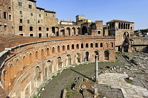 Trajan's Market, Torre del Grillo, House of the Knights of Rhodes or the Knights of Malta, Via Alessandrina, Via dei Fori Imperiali, Rome, Lazio, Italy, Europe