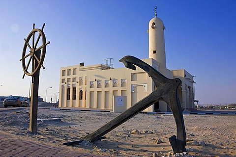 Mosque in Khor, Qatar, Arabian Peninsula, Middle East