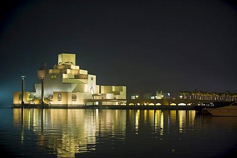 The Museum of Islamic Art, Corniche, Doha Bay, Doha, Qatar, Arabian Peninsula, Middle East