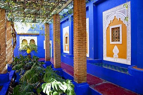 Jardin Majorelle, Majorelle Garden, botanic gardens, Marrakech, Morocco, Africa