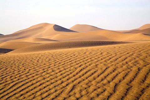 Sand dunes of Erg Chegaga, Sahara Desert near Mhamid, Morocco, Africa