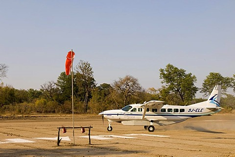 Sefofane flight to Kalamu Tented Camp, South Luangwa National Park, Zambia, Africa