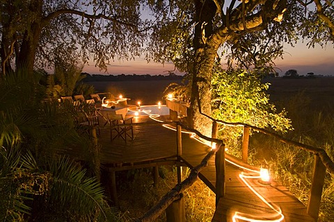 Kapinga Camp, sunset, Busanga Plains, Kafue National Park, Zambia, Africa
