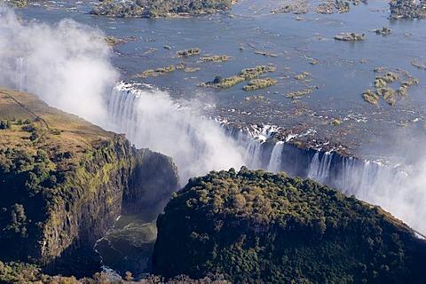 Victoria Falls, Zambesi River, Zambia - Zimbabwe border, Africa