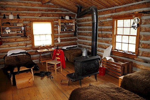 Soldiers' dormitory of the 19th century, Fort Walsh, Saskatchewan, Canada
