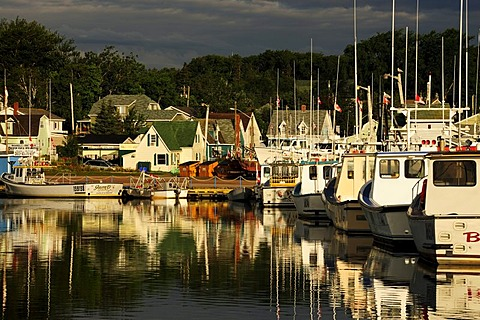 Boats in the harbour of North Rustico, Prince Edward Island, Canada, North America