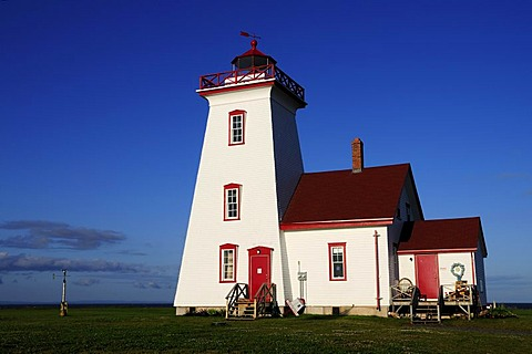 Lighthouse in Wood Island Provincial Park, Prince Edward Island, Canada