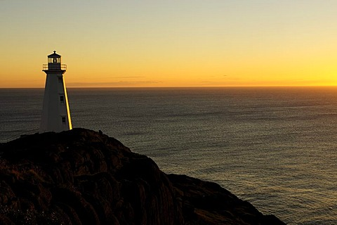 Lighthouse at Cape Spear, the easternmost point on the North American mainland, Newfoundland, Canada, North America