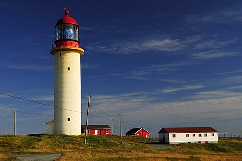 Lighthouse at Cape Race, the first radio message from the sinking Titanic was received here, Newfoundland, Canada, North America