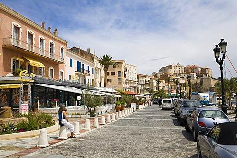 Calvi harbour, Corsica, France, Europe