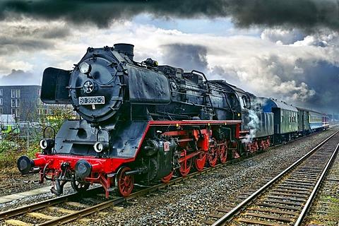 The Train of Memory, mobile exhibition of Deportation, Grevenbroich Railway Station, Grevenbroich, North Rhine-Westphalia, Germany, Europe