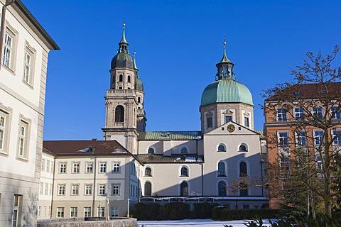 Jesuitenkirche, Jesuit Church, University Church, and Theologische Fakultaet, Theological Department, Innsbruck, Tyrol, Austria, Europe