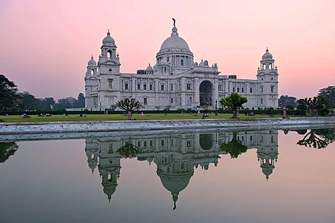 Queen Victoria Memorial, museum, Calcutta or Kolkata, West Bengal, India, Asia