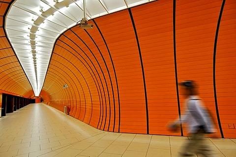 Marienplatz underground station, security camera, Munich, Bavaria, Germany, Europe, Composing