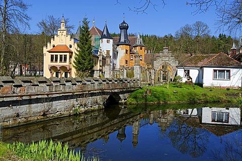 "Hunting castle ""Froehliche Wiederkunft"", Trockenborn-Wolfersdorf, Thuringia, Germany, Europe"