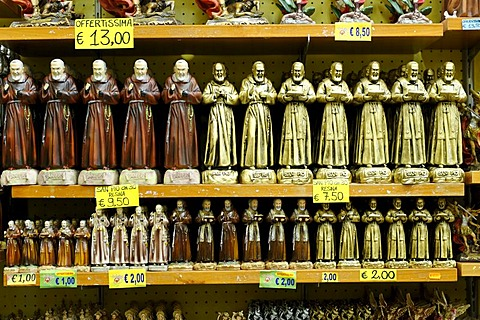 Souvenirs, Monte San Angelo, Sant'Angelo, Gargano, Foggia Province, Apulia or Puglia, South Italy, Europe