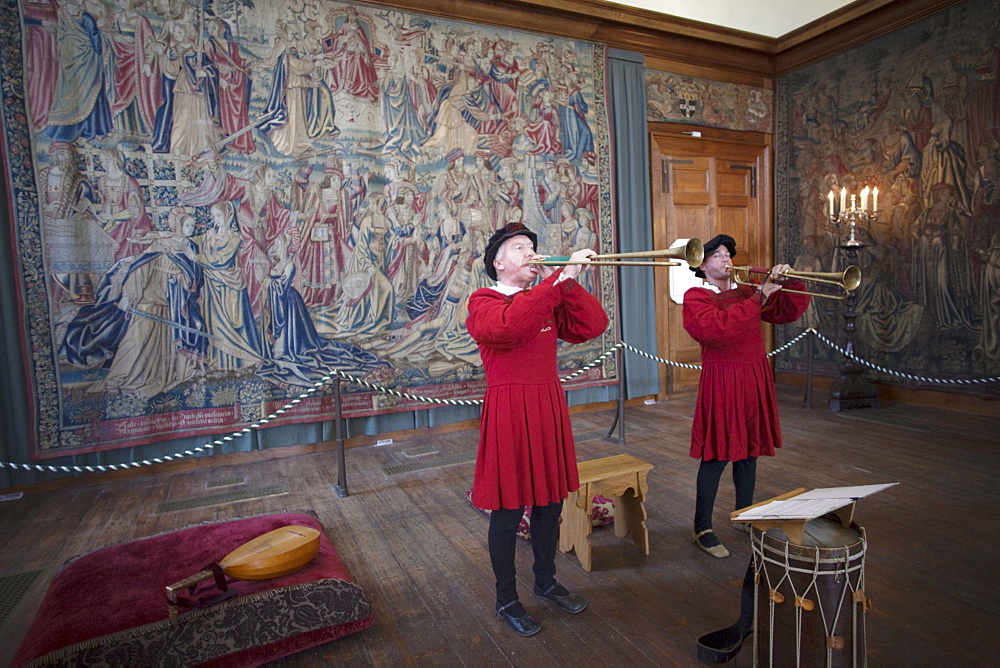 Tapestry in the Great Hall, Hampton Court Palace, Greater London, England, United Kingdom, Europe
