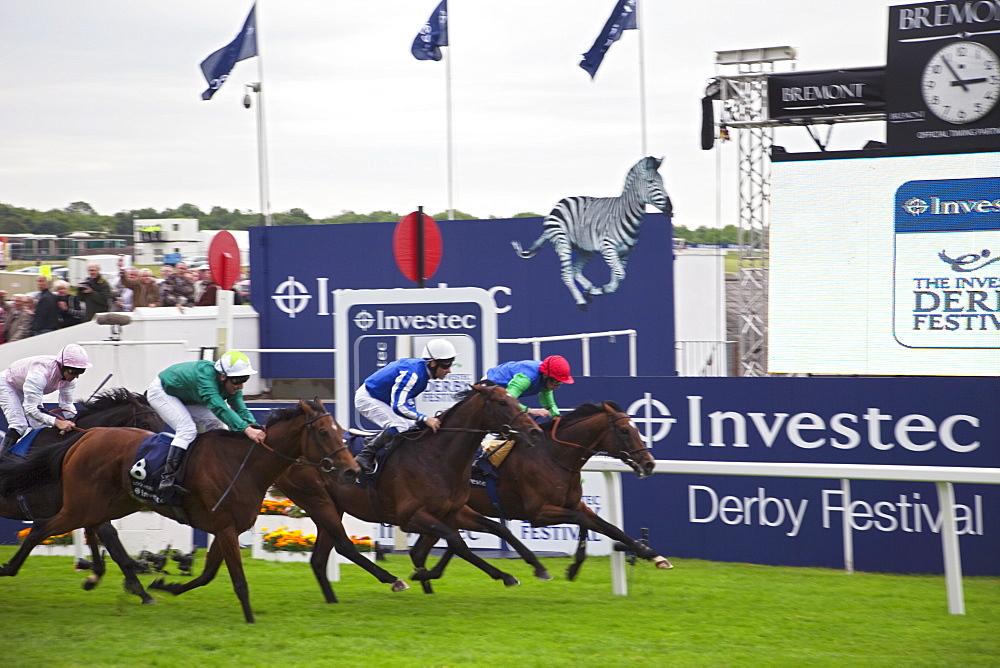 Annual Epsom Derby Horse Race, Epsom, Surrey, England, United Kingdom, Europe