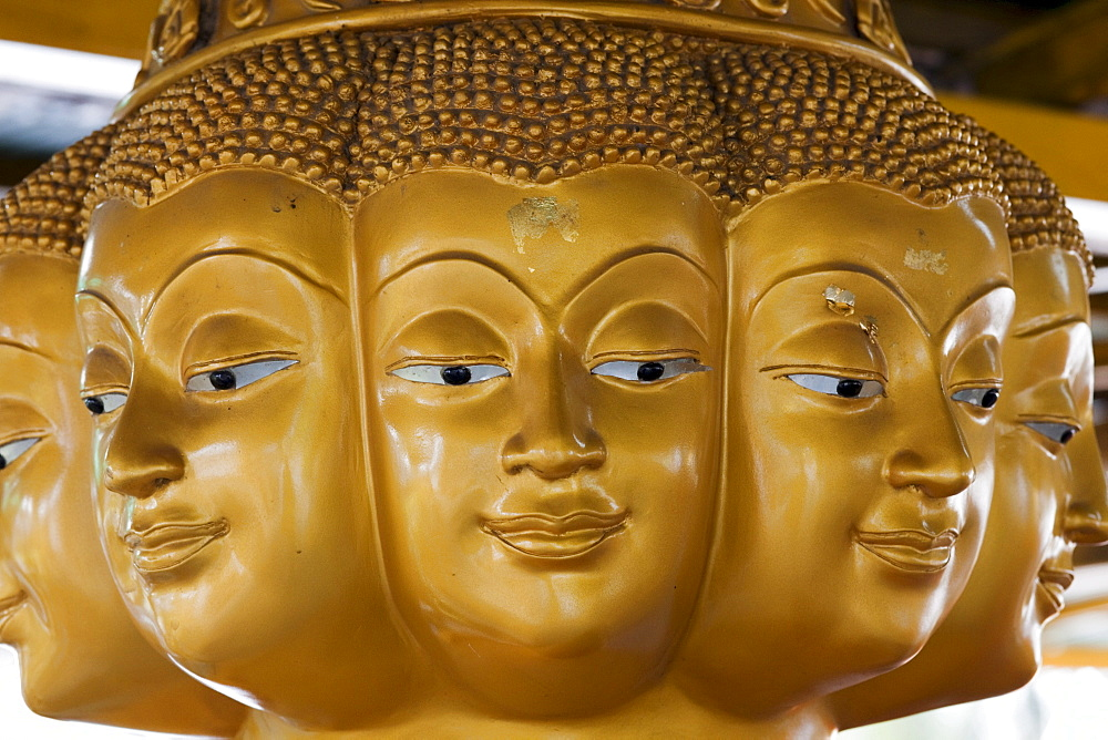 Buddha statue in Wat Na Phra Men, Ayutthaya Historical Park, Ayutthaya, Thailand, Southeast Asia, Asia
