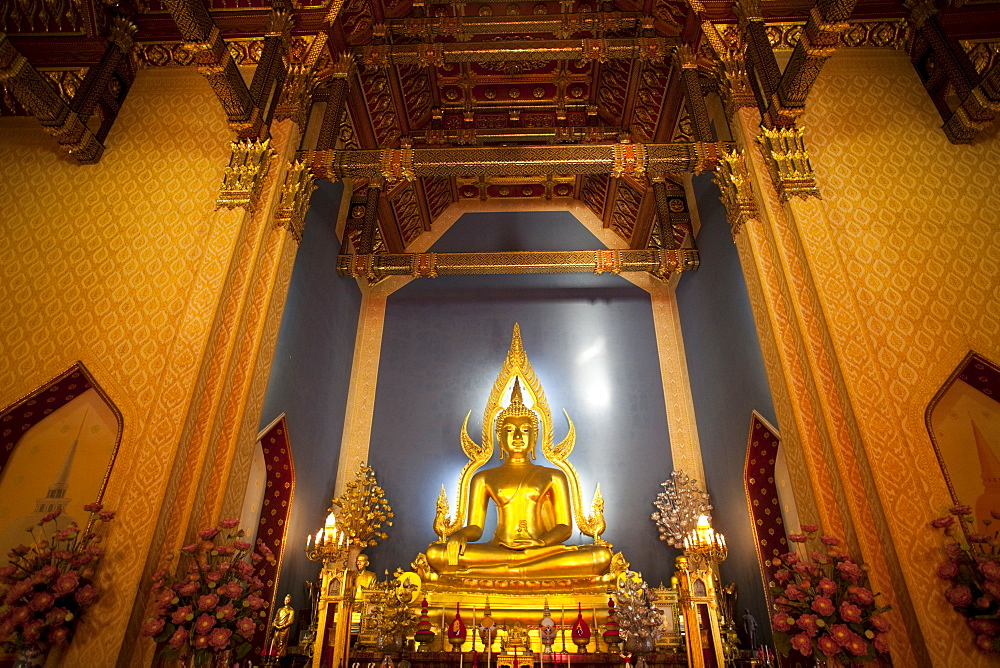 Statue of the Buddha, Marble Temple (Wat Benchamabophit), Bangkok, Thailand, Southeast Asia, Asia