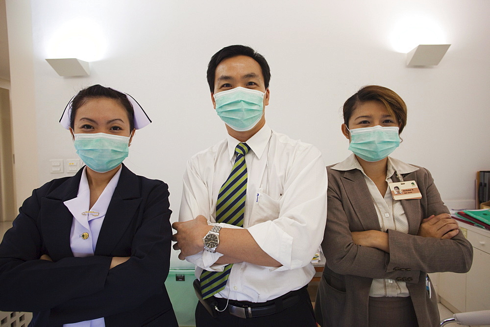 Hospital doctor and nurses, Bangkok, Thailand, Southeast Asia, Asia