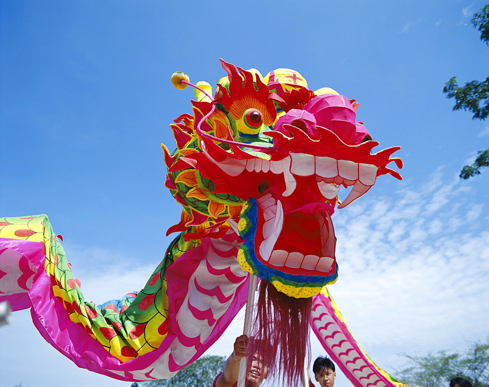 Colourful dragon dance for Chinese New Year