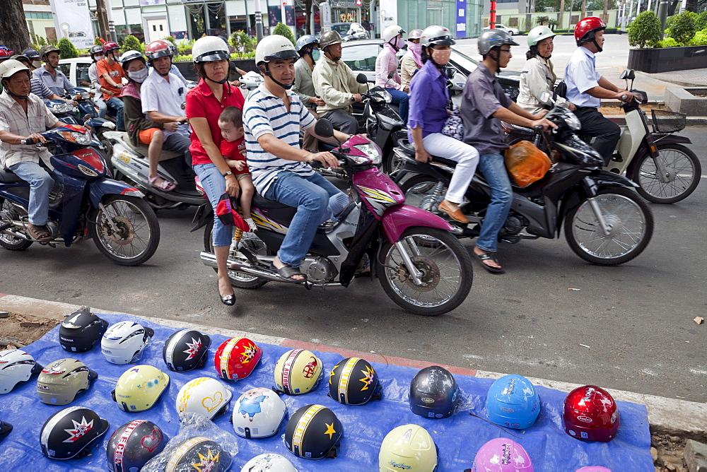 Motor bikes, Ho Chi Minh City, Vietnam, Indochina, Southeast Asia, Asia