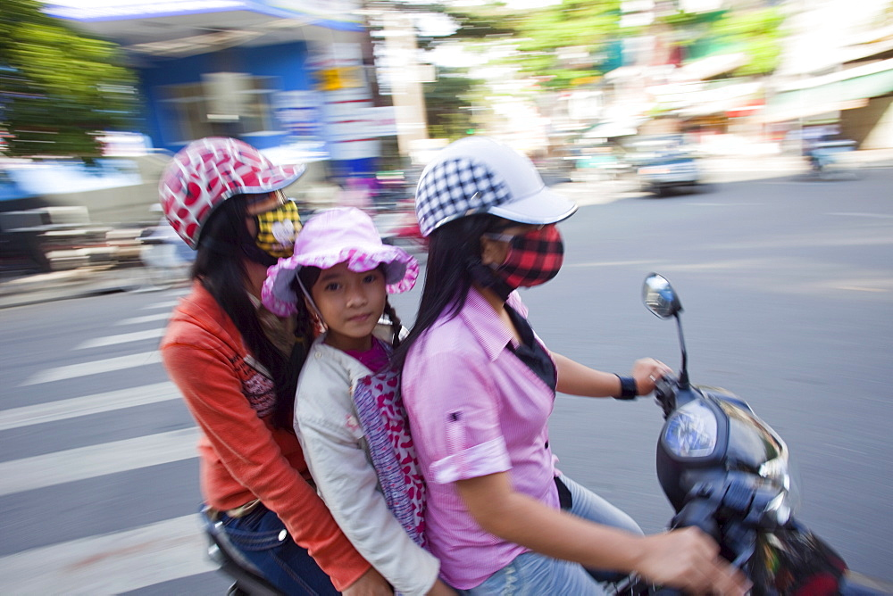 Motorbikes, Danang, Vietnam, Indochina, Southeast Asia, Asia
