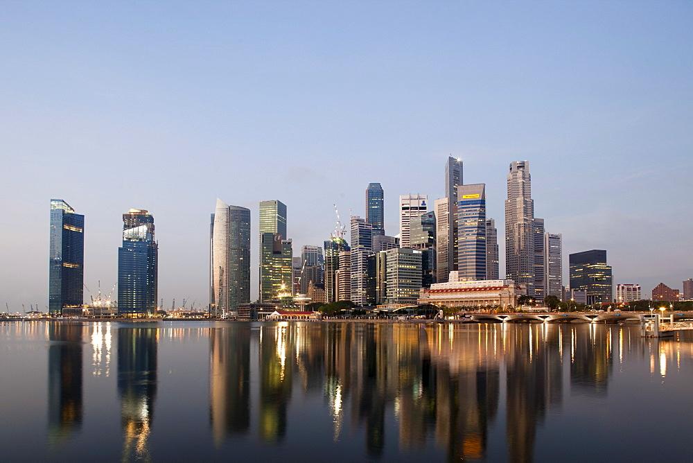 City skyline, Singapore, Southeast Asia, Asia