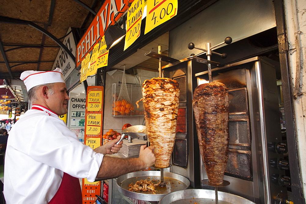 Kebab Restaurant, Sultanahmet, Istanbul, Turkey, Europe