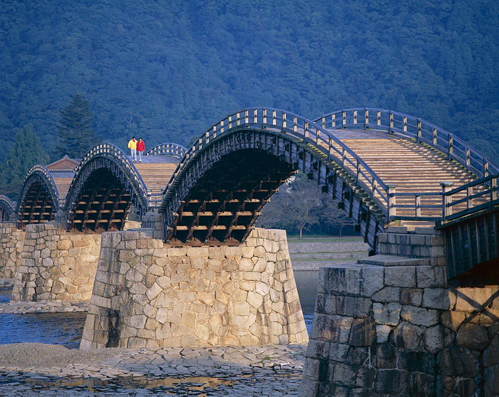 Brocade Sash Bridge (Kintaikyo Bridge), Iwakuni, Honshu, Japan, Asia - 834-2653