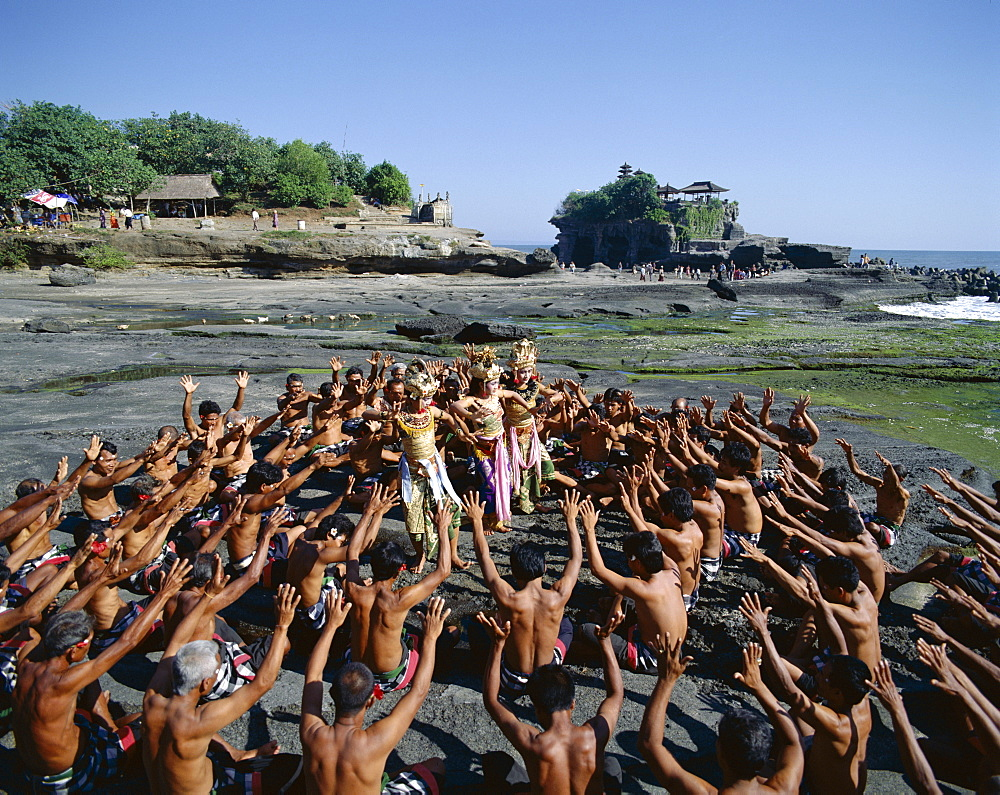 Kecak dance, enacting the Ramayana story, Bali, Indonesa, Southeast Asia, Asia