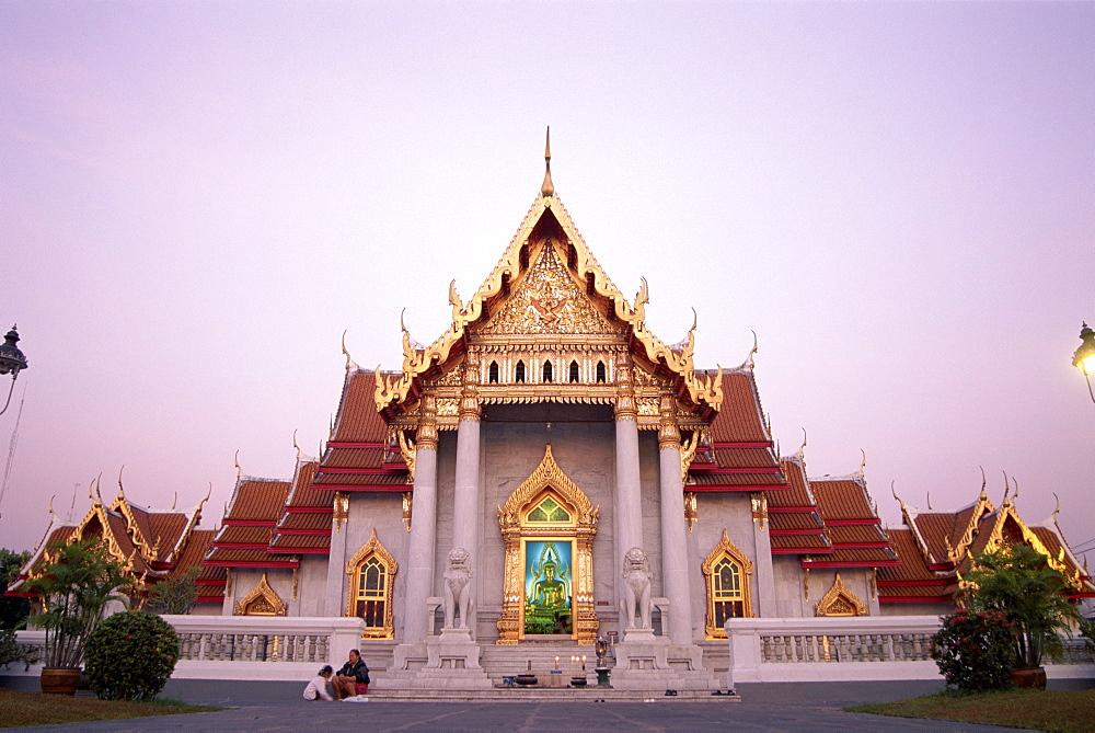 Marble Temple (Wat Benchamabophit), Bangkok, Thailand, Southeast Asia, Asia