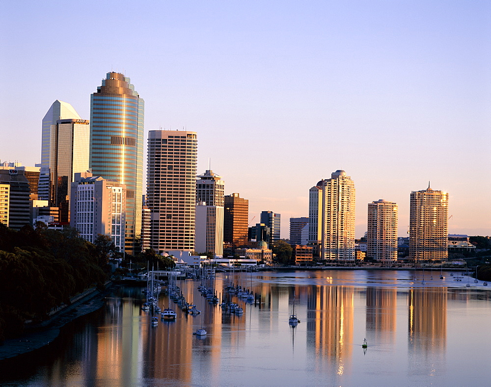 City skyline, Brisbane, Queensland, Australia, Pacific