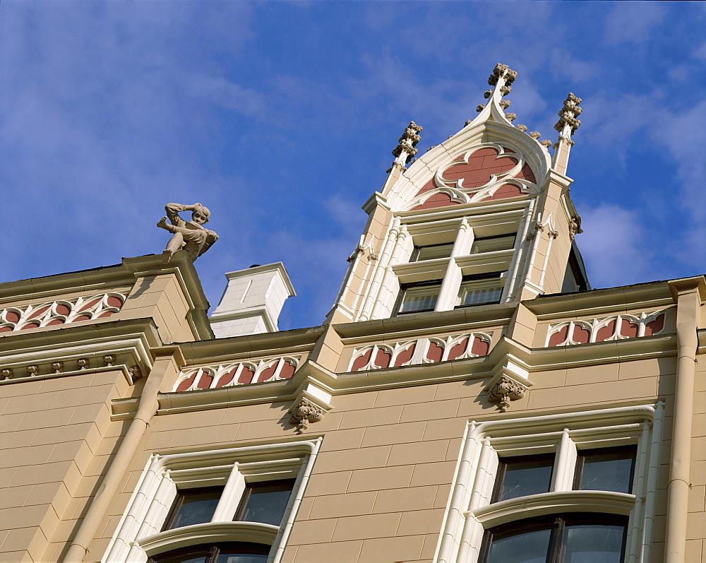 Art Deco facades, Riga, Latvia, Baltic States, Europe