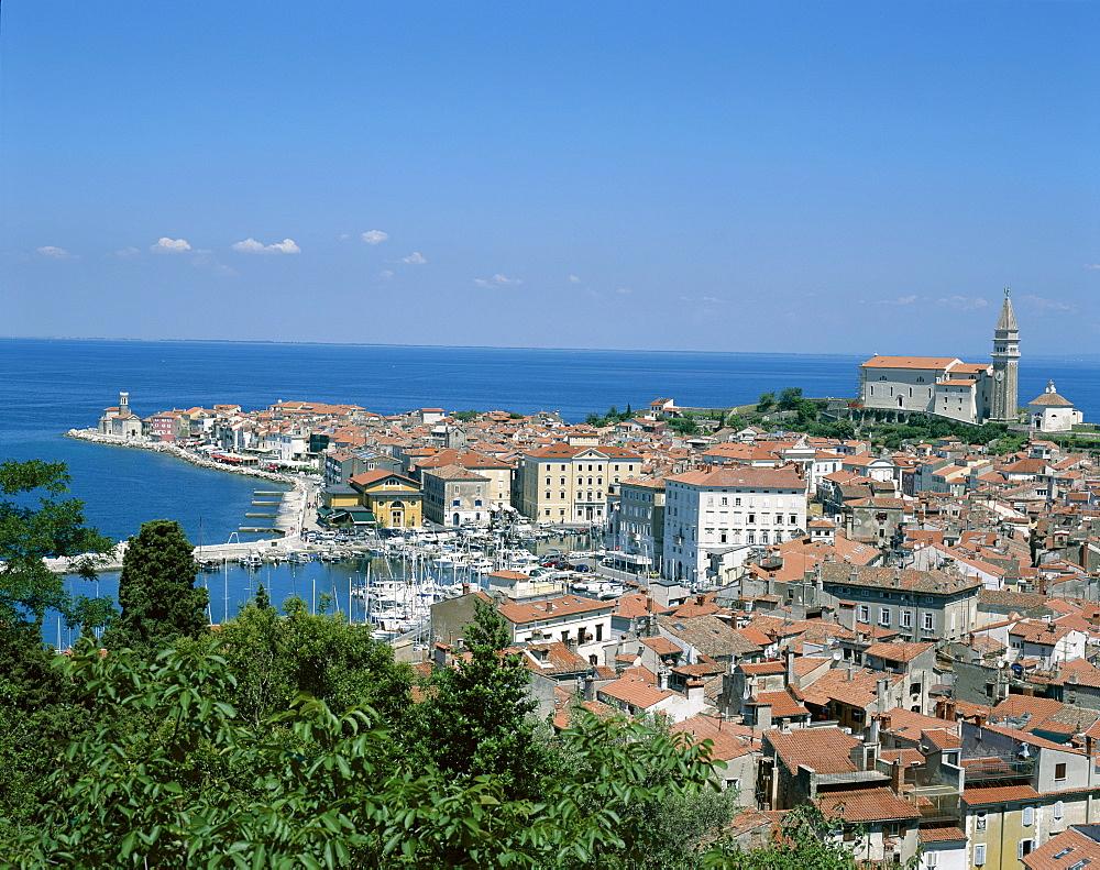 Town view, Piran, Primorska Region, Slovenia, Europe