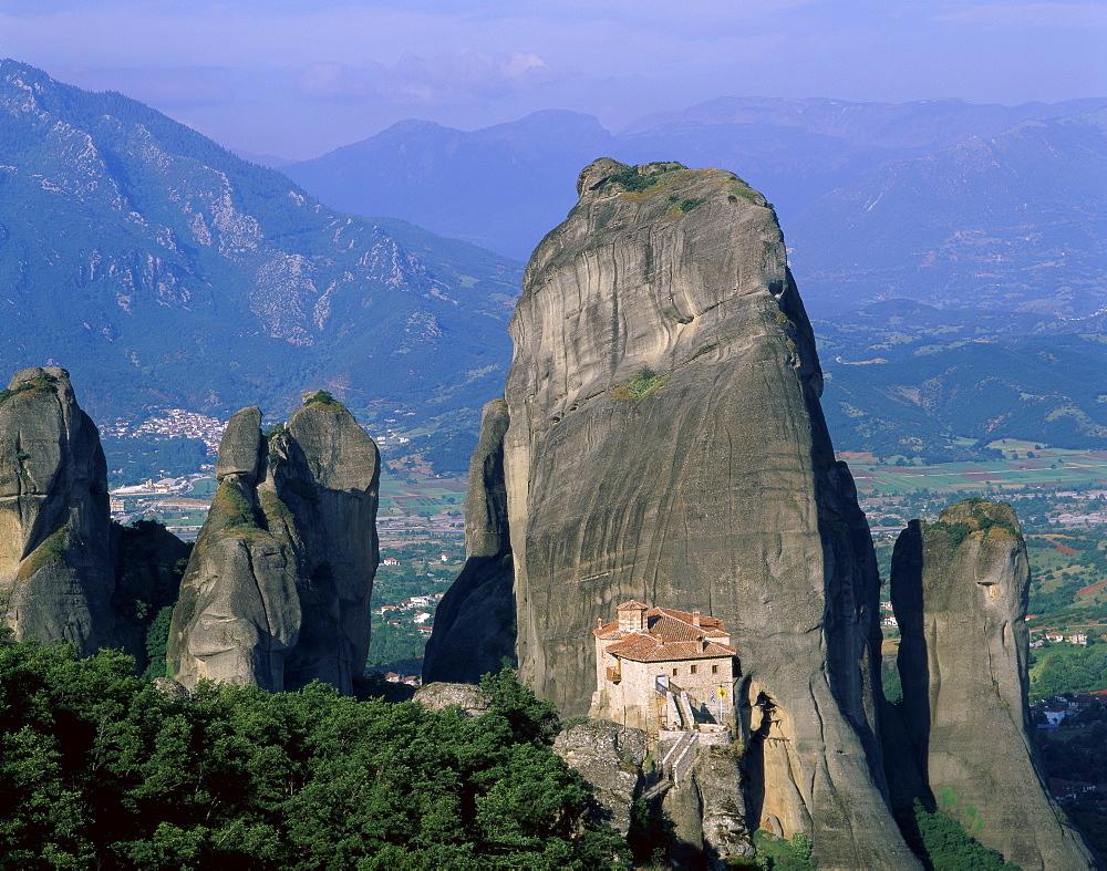 Monastery of Rousanou, Meteora, UNESCO World Heritage Site, Greece, Europe