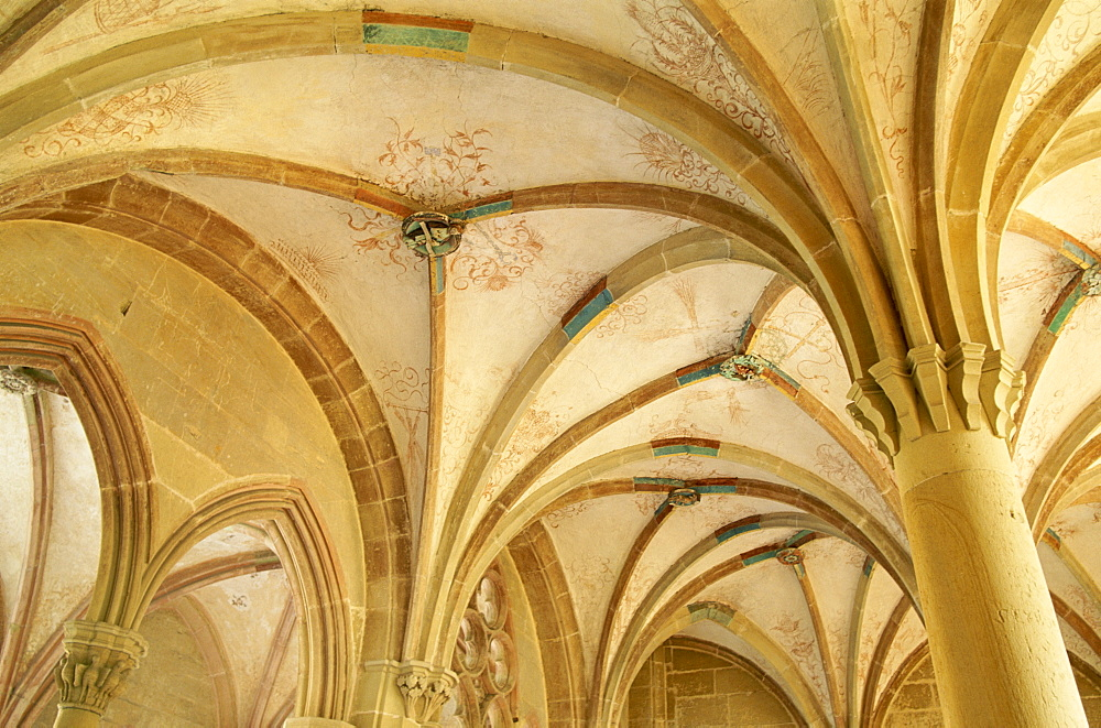 Interior roof detail, Maulbronn Abbey, UNESCO World Heritage Site, Maulbronn, Black Forest (Schwarzwald), Baden-Wurttemberg, Germany, Europe