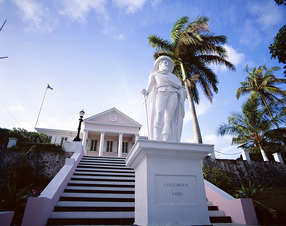 Columbus statue, Nassau, Bahamas, West Indies, Central America