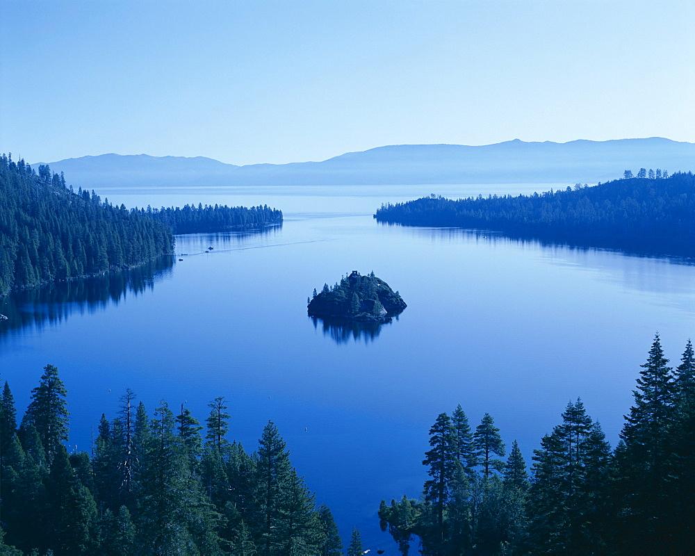 Emerald Bay at dawn, Lake Tahoe, California, United States of America, North America