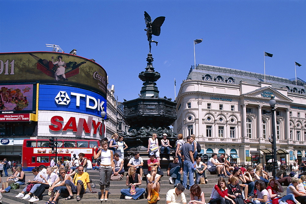 Piccadilly Circus and Eros statue, London, England, United Kingdom, Europe