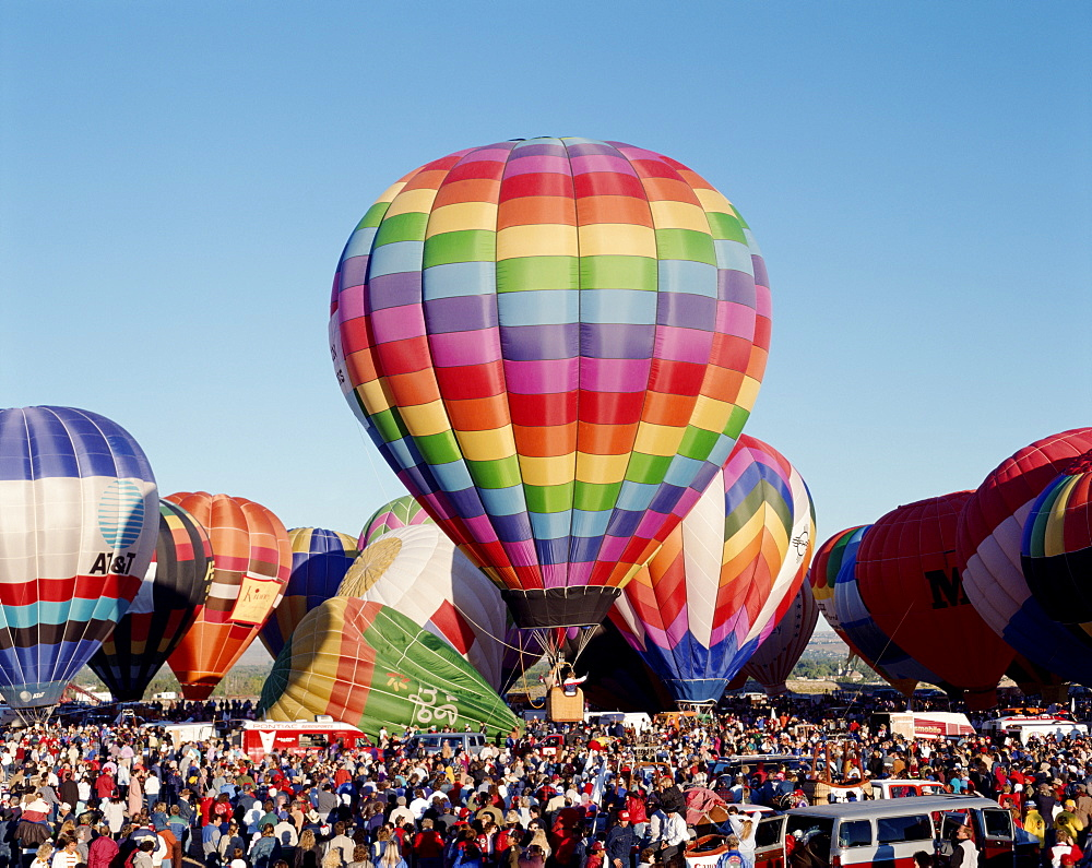 Colourful hot air balloons at the Albuquerque Balloon Fiesta, Albuquerque, New Mexico, United States of America, North America - 834-438