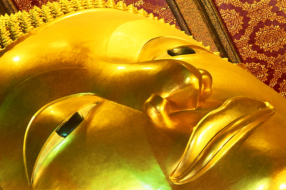 Detail of the Reclining Buddha, Wat Pho, Bangkok, Thailand, Southeast Asia, Asia - 834-441