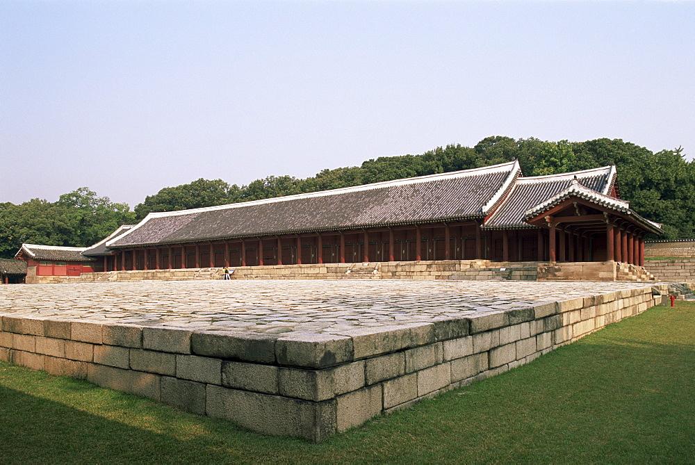 Jongmyo Royal Shrine, Jeongjeon Pavilion, Changdeokgung Palace, Seoul, South Korea, Asia