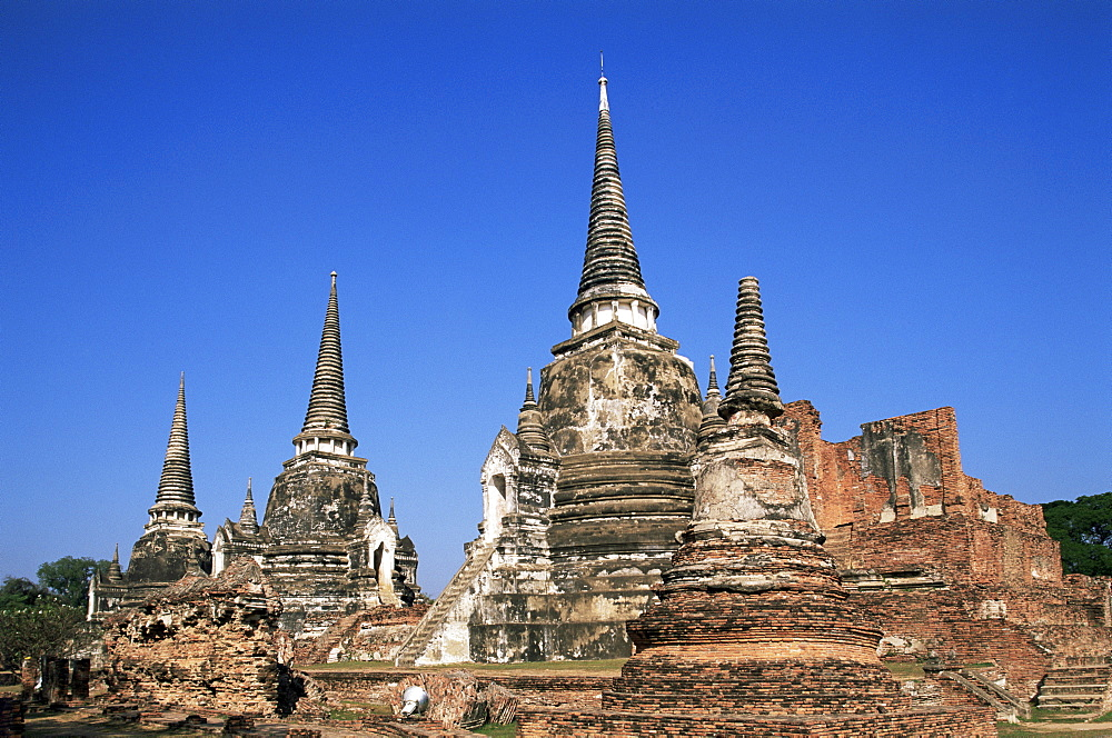 Wat Phra Si Sanphet, Ayutthaya Historical Park, Ayutthaya, Thailand, Southeast Asia, Asia