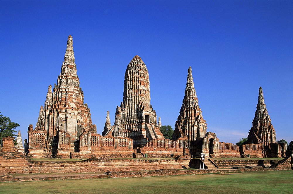 Wat Chai Wattanaram, Ayutthaya Historical Park, Ayutthaya, Thailand, Southeast Asia, Asia