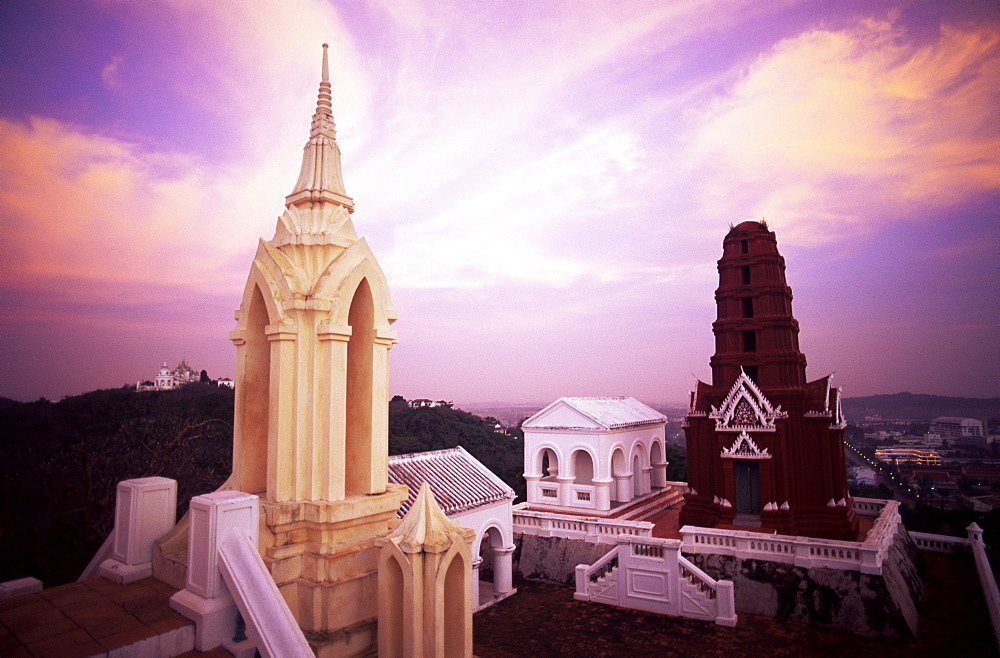 Moody view of Phra Nakhon Khiri Palace, Phetchaburi, Thailand, Southeast Asia, Asia