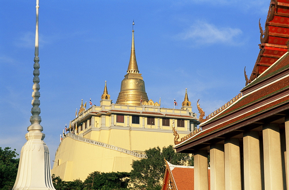 Wat Saket (The Golden Mount), Bangkok, Thailand, Southeast Asia, Asia