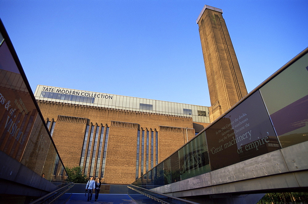Tate Modern and Millennium Bridge, South Bank, London, England, United Kingdom, Europe