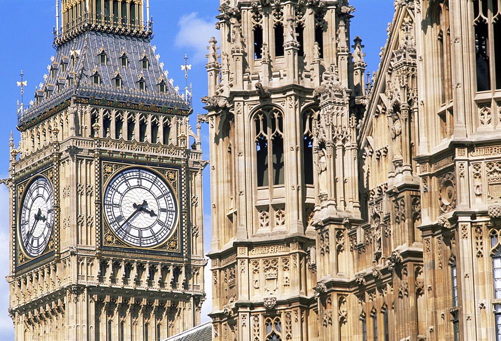 Big Ben and Westminster, UNESCO World Heritage Site, London, England, United Kingdom, Europe